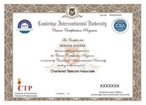 Chartered Telecom Associate - Telecom Masters Program