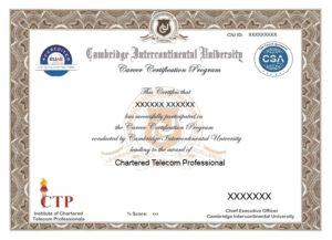Chartered Telecom Professional - Telecom Masters Course